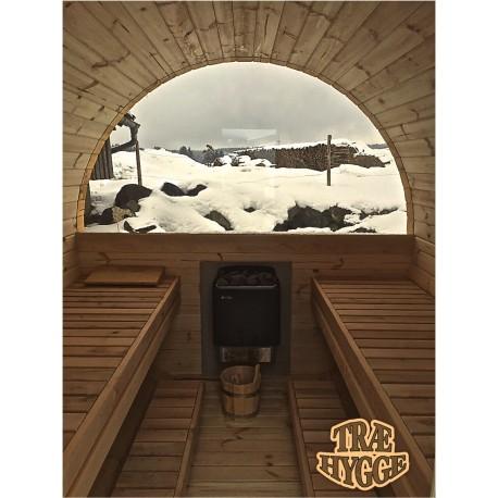 Glas til sauna tønde