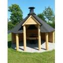 Grillhus 9,2 kvm med grill og skorsten